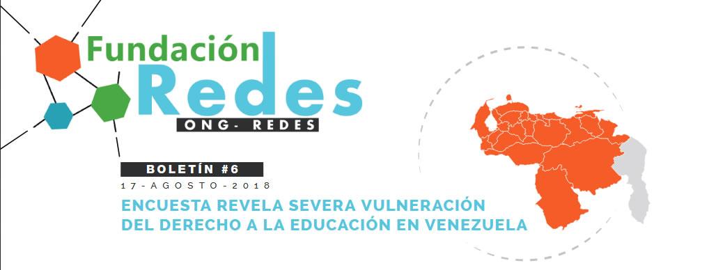 #Boletin006 ENCUESTA REVELA SEVERA VULNERACIÓN  DEL DERECHO A LA EDUCACIÓN EN VENEZUELA