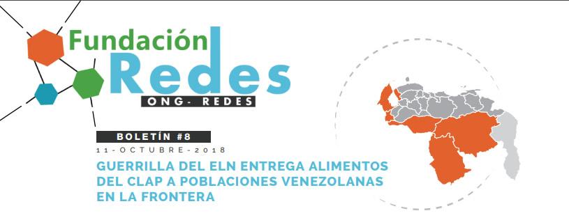 BOLETIN008 | GUERRILLA DEL ELN ENTREGA ALIMENTOS DEL CLAP A POBLACIONES VENEZOLANAS EN LA FRONTERA