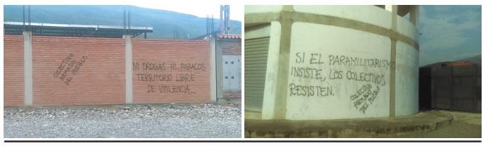 Grafitis Colectivo de Seguridad Fronteriza